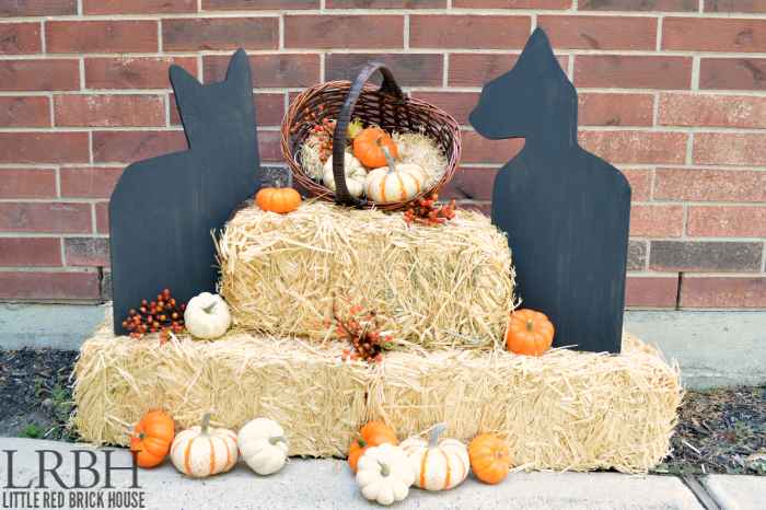 Wooden Black Cat Halloween Decor