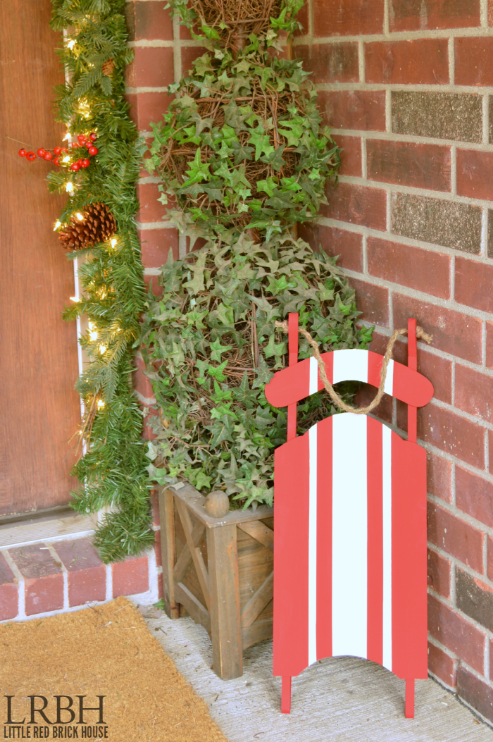 Grain Sack Stripe Christmas Sled