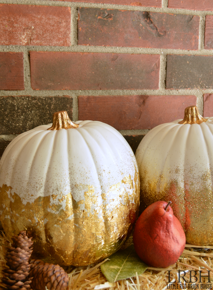 Gold Leaf & Glitter Pumpkins