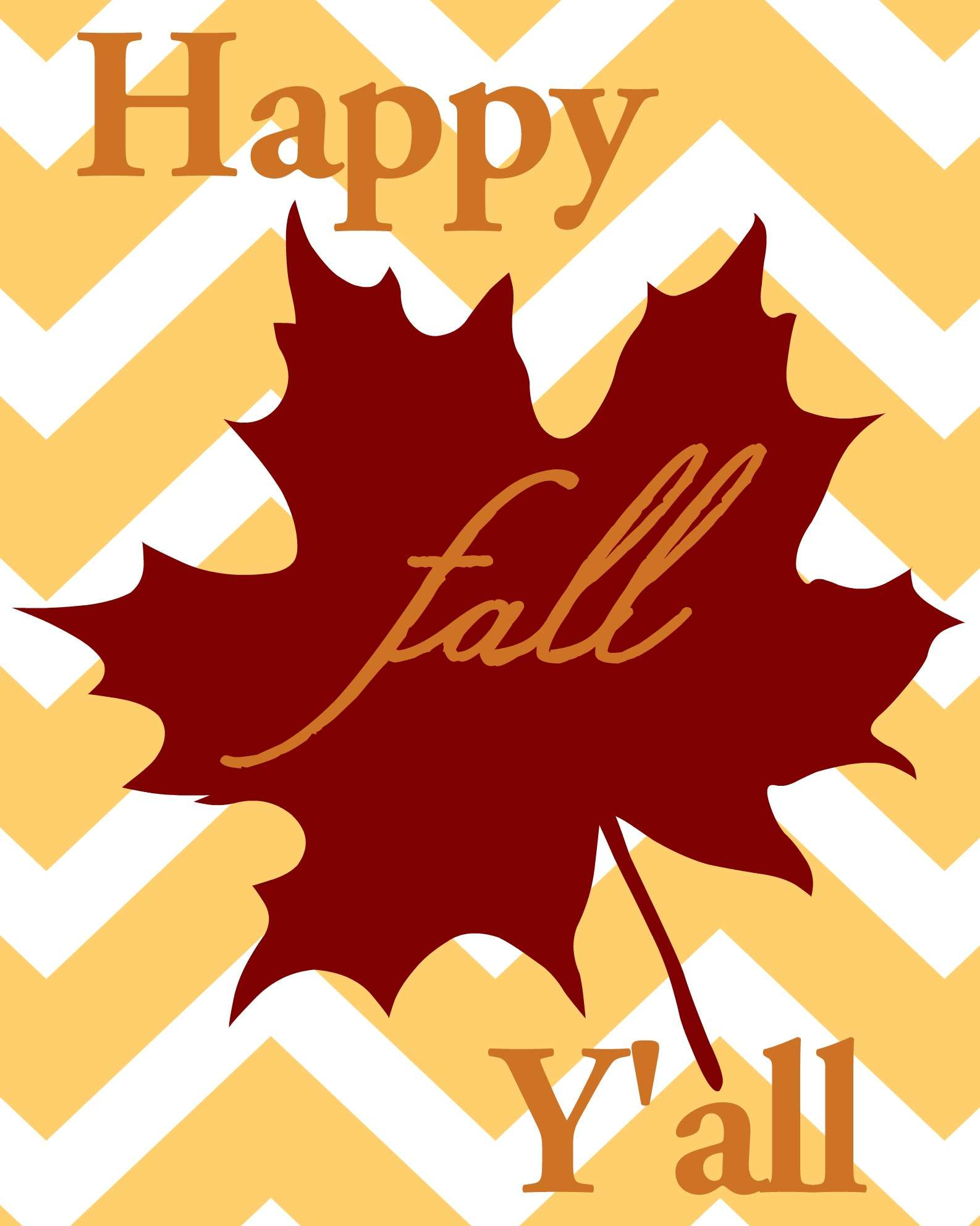 "FREE ""Happy Fall Y'all"" Printable"