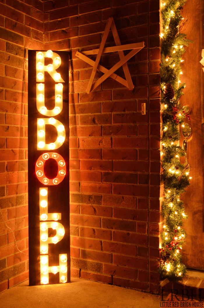 DIY Rudolph Marquee Sign