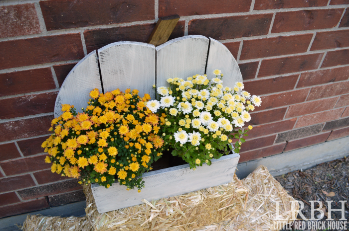 Rustic Pumpkin Stand for Fall Flowers