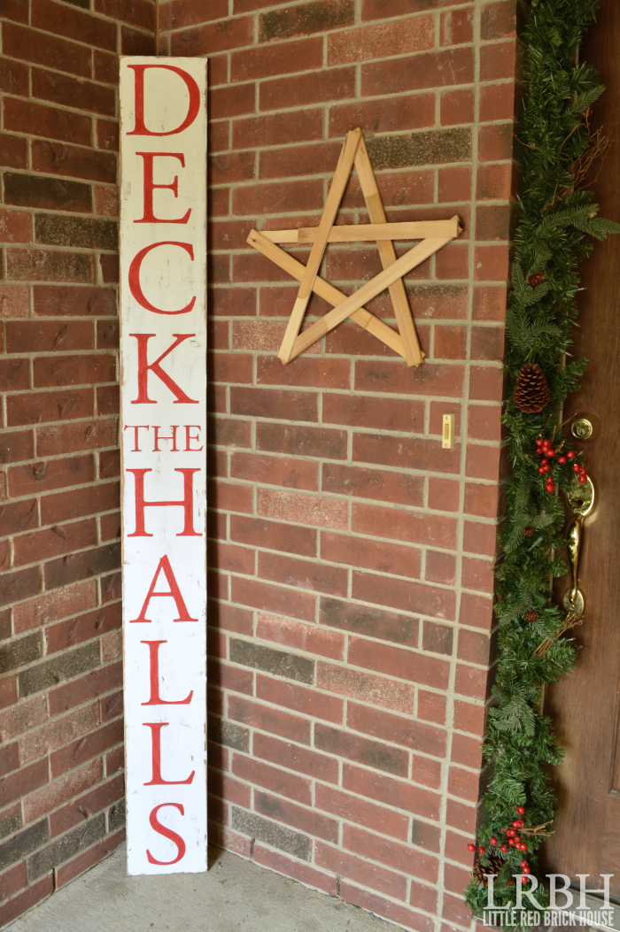 "DIY ""Deck the Halls"" Painted Sign"